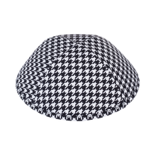 Black and White Houndstooth Ikippah