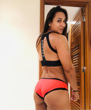Bikini Deportivo DOCAFF - Black & Neon Orange