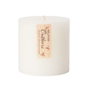 Outdoor Citronella, Lavender & Tea Tree Candle White 4 x 4