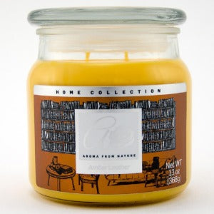 2 WICK CANDLE AMBER LEATHER 368g