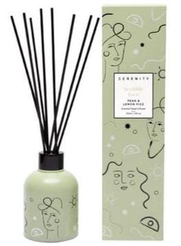 Pear Lemon Fizz 150ml Reed Diffuser Scribble Face