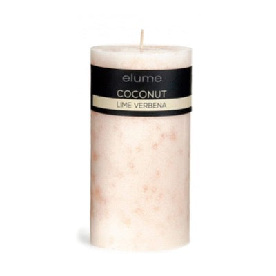 Coconut Lime Verbena Pillar Candle Elume