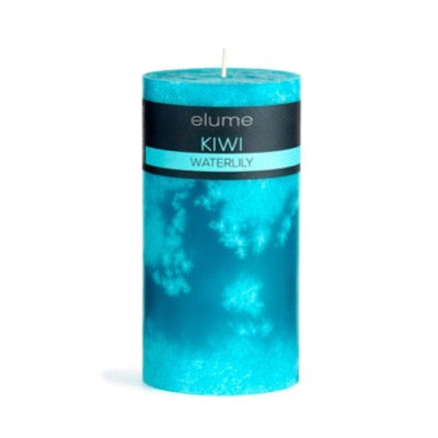 Kiwi Waterlily Pillar Candle Elume