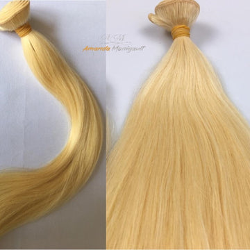Amanda's (2001) Human Hair Bundles (Blonde) Straight