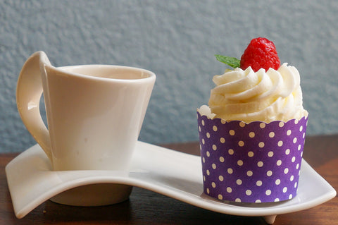 Case of Plum Purple Polka Dots Bake-In-Cups-  Large/Small