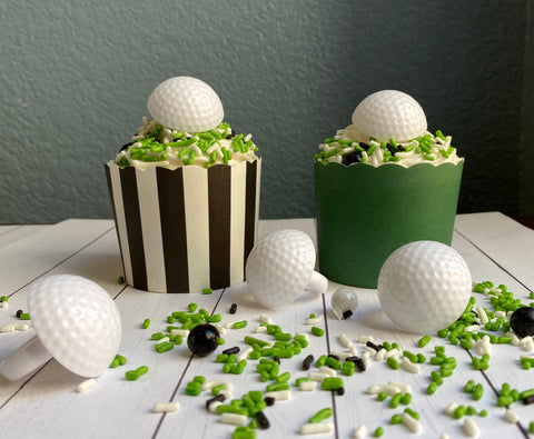 Golf Ball Cupcake Ring (12 rings)