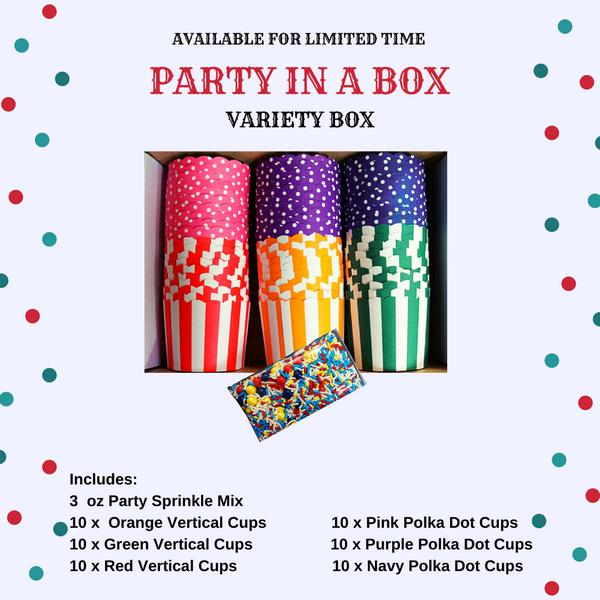"""Party In a Box"" Variety Pack- Avail. in Large/Small Cups"