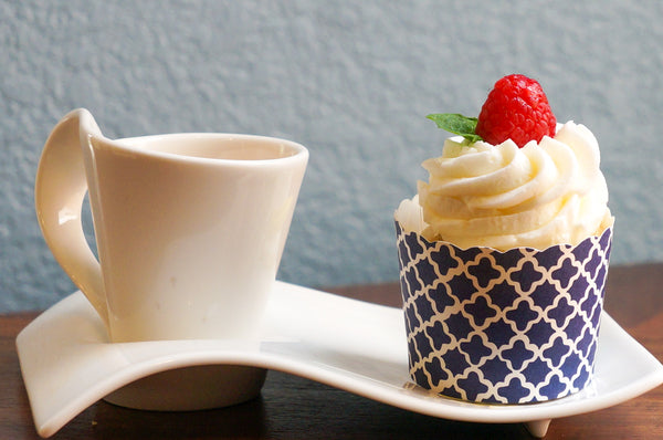 Navy Blue Quadrafoil Bake-In-Cups-  Available in small cups