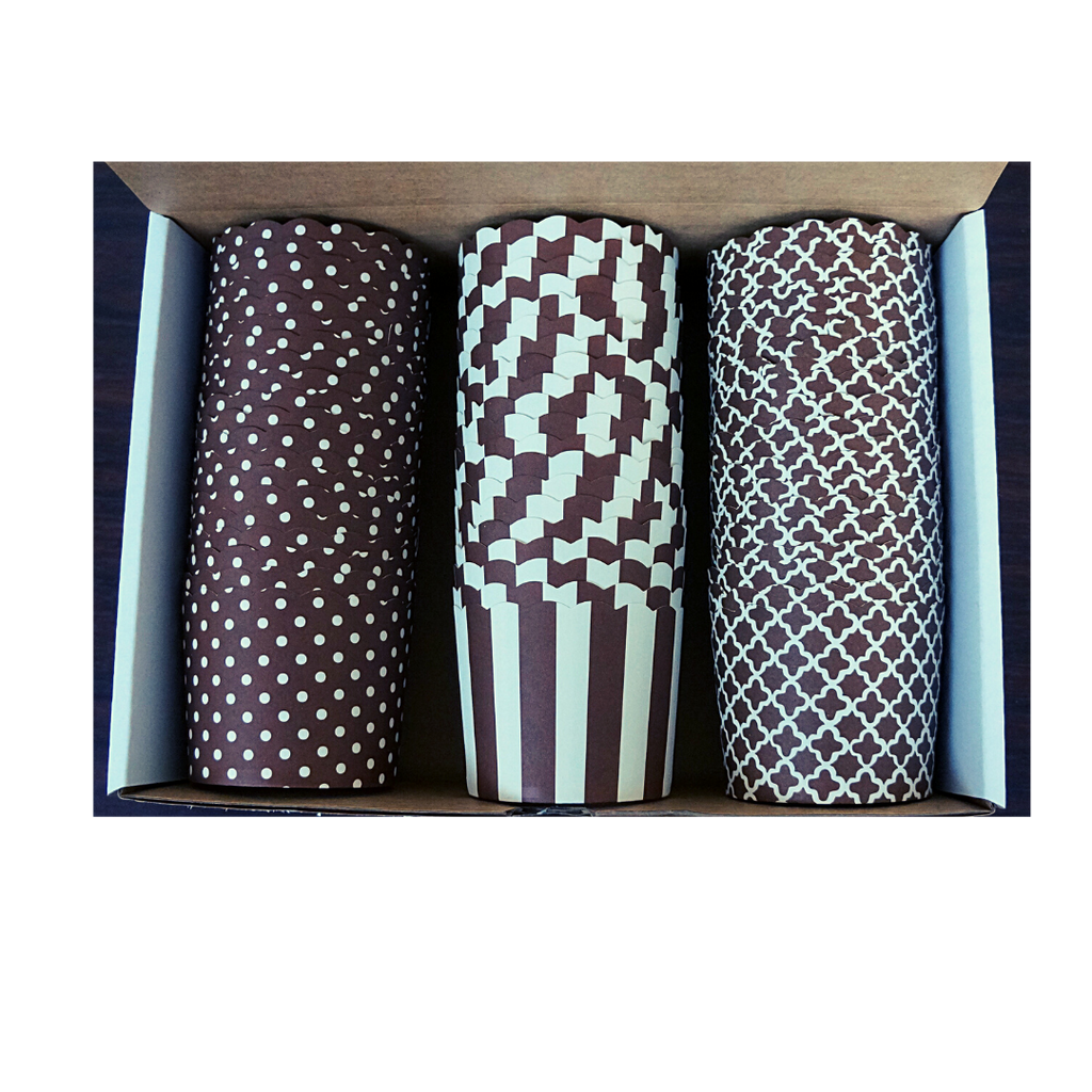 60 Large Cups Variety Pack- Chocolate Brown - Shipping Included!