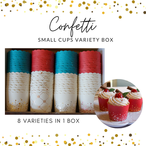 80 Confetti Small Cups Variety Pack- Shipping Included