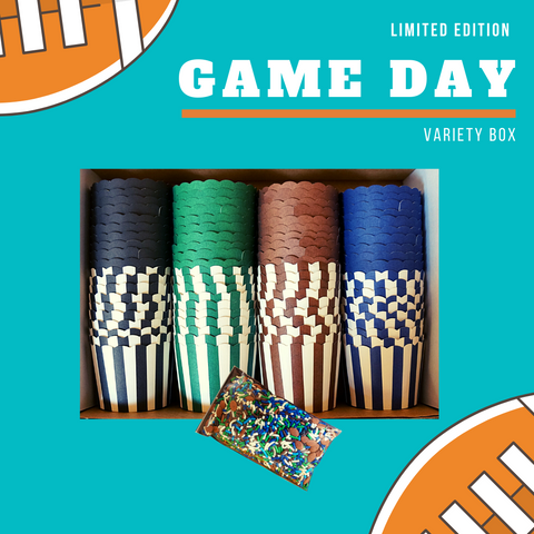 """Game Day"" Variety Pack- Avail. in Large/Small Cups"