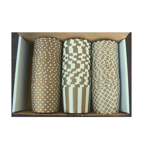 60 Large Cups Color Box- Gold