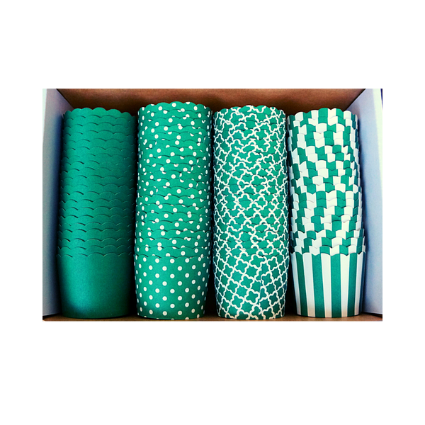 80 Small Cups Variety Pack- Green- Shipping Included!