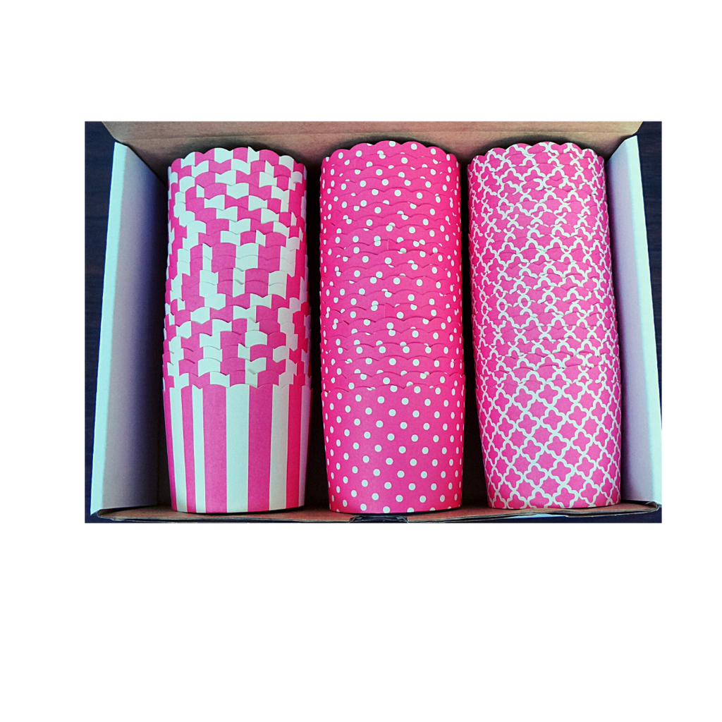 60 Large Cups Color Box- Pink