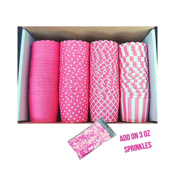 80 Small Cups Variety Pack- Pink- Shipping Included!