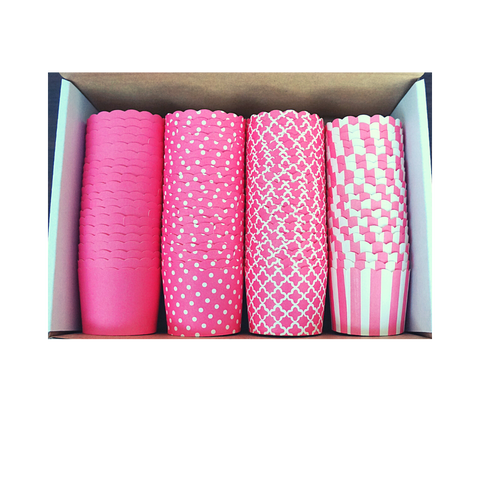 80 Small Cups Color Box- Pink