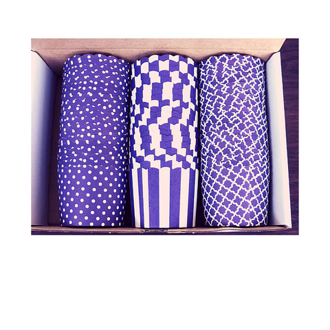 60 Large Cups Color Box- PURPLE