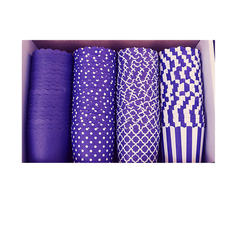 80 Small Cups Color Box- Purple