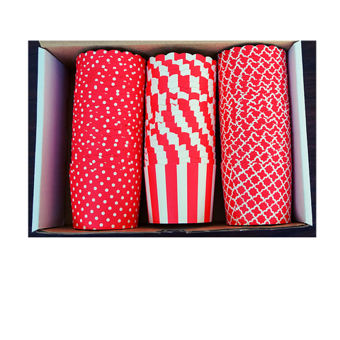 60 Large Cups Color Box- Red