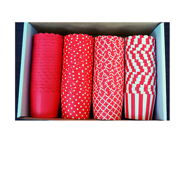 80 Small Cups Color Box- Red