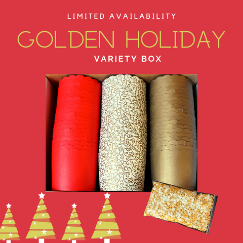 """Golden Holiday"" Variety Pack- Avail. in Large/Small Cups"