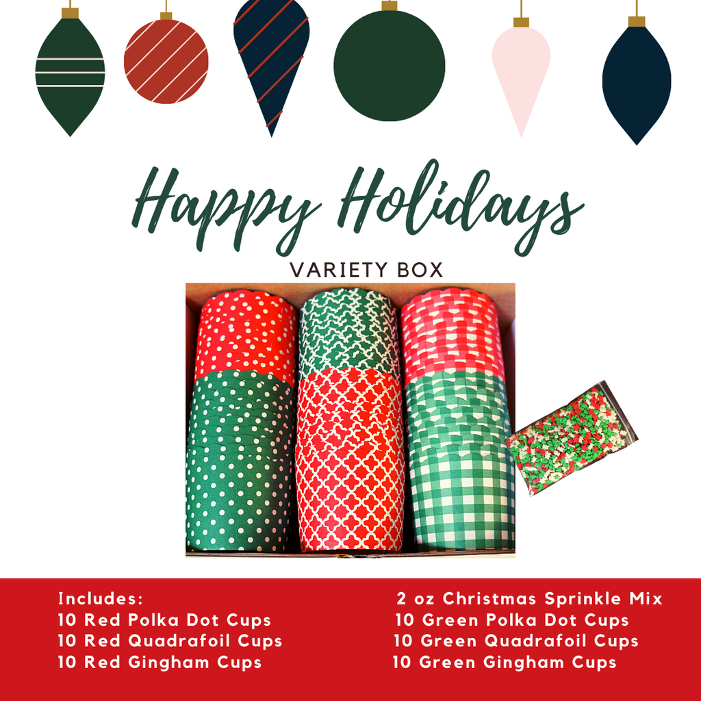 """Happy Holidays"" Variety Pack- Avail. in Large/Small Cups"