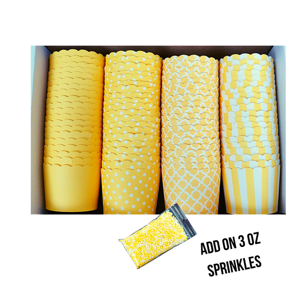 80 Small Cups Variety Pack- Yellow- Shipping Included!