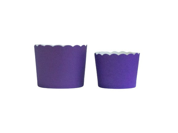 Solid Plum Purple Bake-In-Cups-   50 Large/60 Small Cups