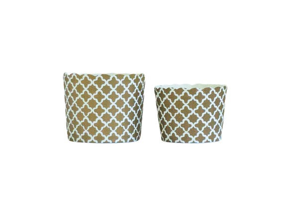 Gold  Quadrafoil Bake-In-Cups-   50 Large/60 Small Cups