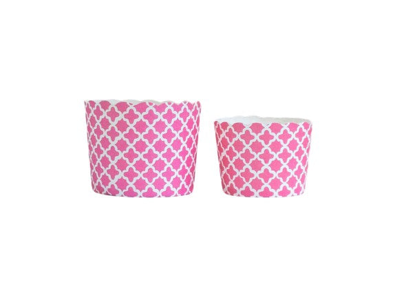Case of Pink Quadrafoil Bake-In-Cups- 1200 Large/1440 Small