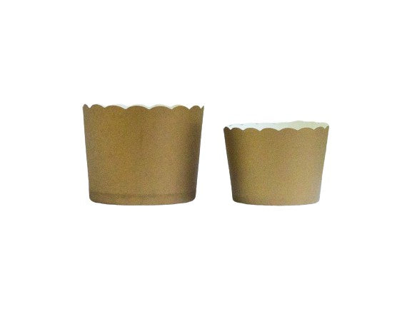 Solid Gold Bake-In-Cups-   50 Large/60 Small Cups