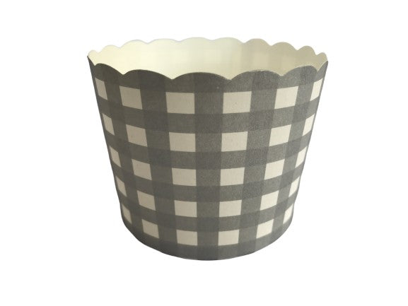 Case of 1200 Large Silver Gingham Bake-In-Cups