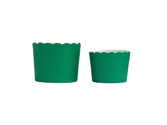 Case of Solid Green Bake-In-Cups- 1200 Large/1440 Small
