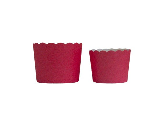 Case of Solid Red Bake-In-Cups-  1200 Large/1440 Small