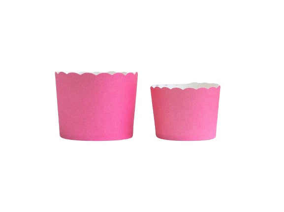 Solid Pink Bake-In-Cups-   50 Large/60 Small Cups