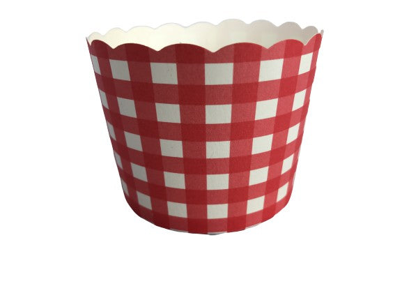 Case of 1200 Large Red Gingham Bake-In-Cups