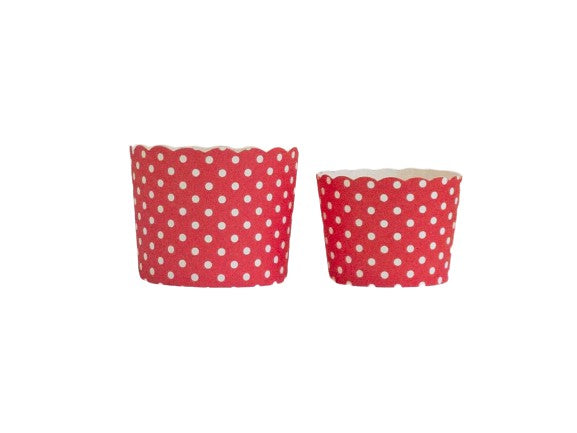 Red Polka Dots Bake-In-Cups-  Large/Small