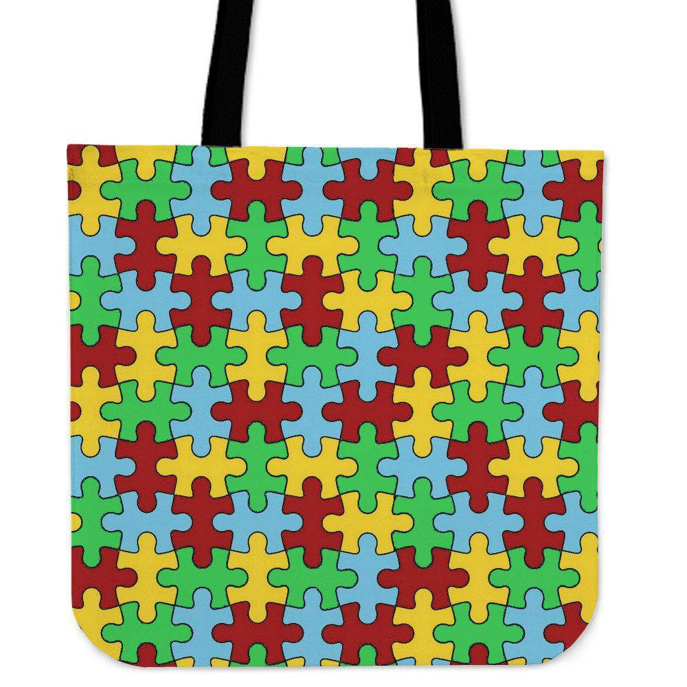 ACTION ON AUTISM PUZZLE TOTE BAGS