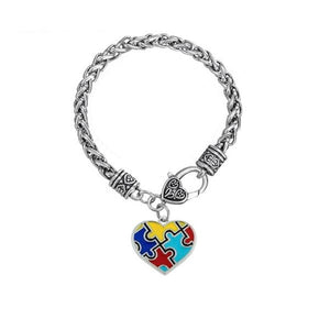 ACTION ON AUTISM AWARENESS PUZZLE BRACELET