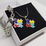 ACTION ON PUZZLE NECKLACE