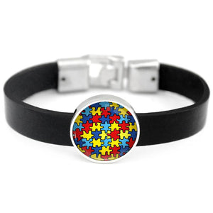 ACTION ON PUZZLE LEATHER BRACELET