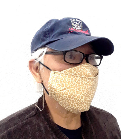 Adult and Kids Fitted Cloth Face Mask with Gussets