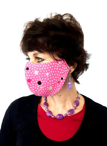 "Adult and Kids Reversible Cotton Face Mask with Adjustable 1"" Head Band"