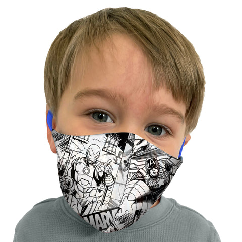 Adult and Kids Reversible Face Mask in Marvel Print