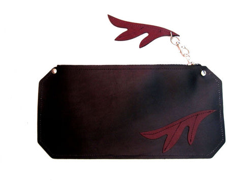 Black & Burgundy Clutch Andromeda