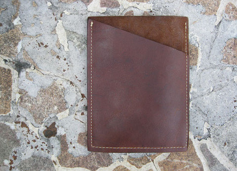 Brown Case Slab Phone Pouch