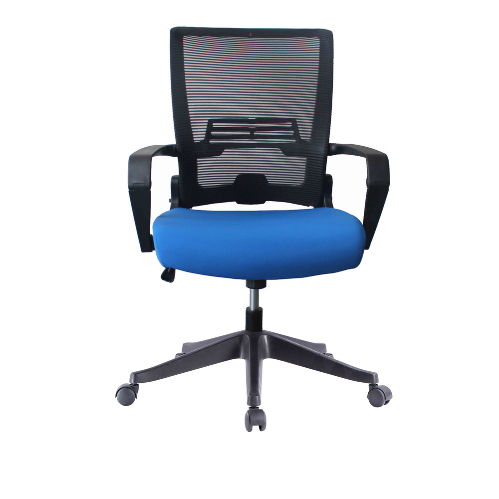 ImpecGear Ergo HQ Mesh Back/Fabric Seats W/ Frame Easy Folding Fold Out Chairs (Custom Color Seat Fabric-with many beautiful colors)