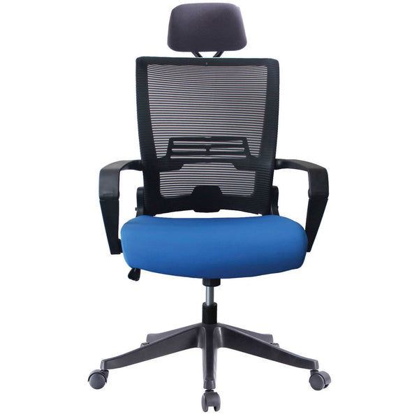 ImpecGear Ergo HQ Mesh Back/Fabric Seats W/ Frame Easy Folding Fold Out Chairs (Custom Color Seat Fabric-with many beautiful colors) + Headrest