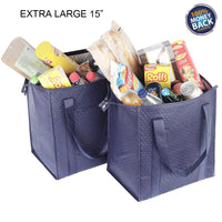 Insulated Lunch Bag Wine Cooler Thermo Tote Reusable Tall Water Bottle Carrier For Adults