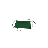 Waist Apron with 3 Pockets Poly Cotton Commercial Restaurant Home Bib Spun, 2-Pack, Green